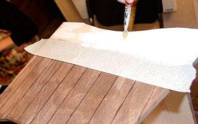 Грунтовка деревянных частей хлебницы акрилом