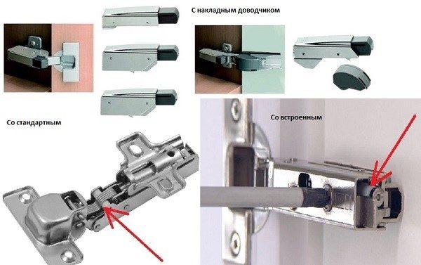 Пример, как выглядят доводчики
