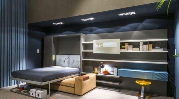 Мебель-конструктор идеальна для небольших комнат