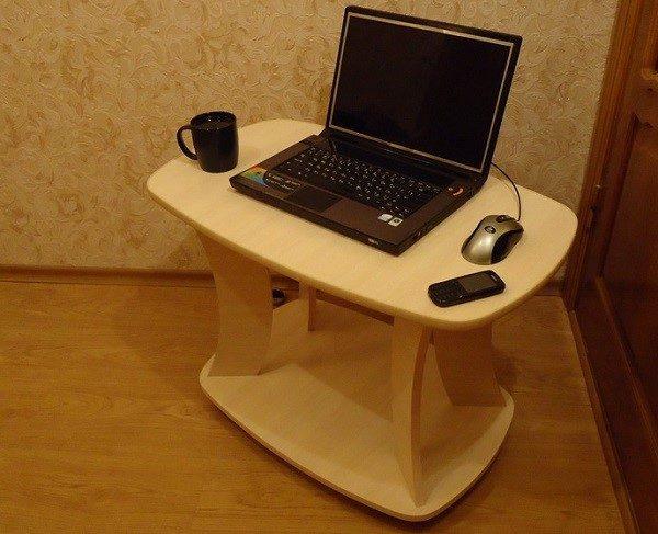 Столикам, изготовленным из МДФ можно придавать самую разную форму