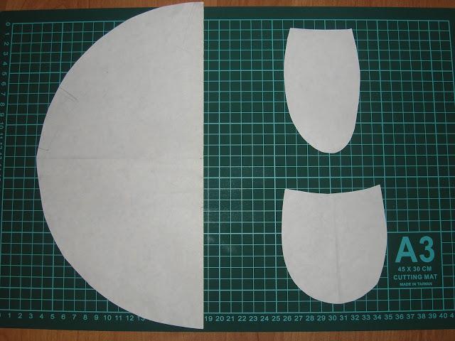 8 деталей лап, 2 детали хвостика, 2 детали головы, 2 дет. панциря (диаметр 30 см)