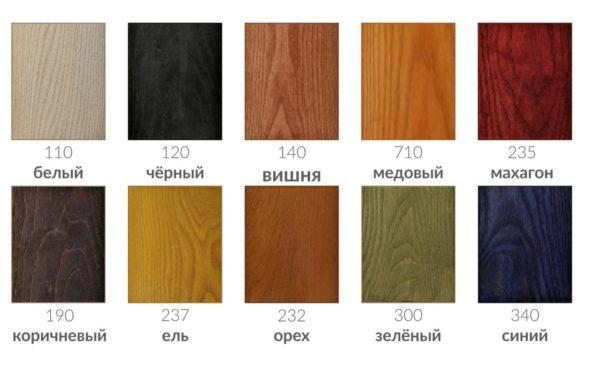 Цветовые вариации морилки