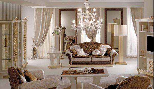 Дизайн арт-деко гостиной выполняется в теплых и спокойных цветах