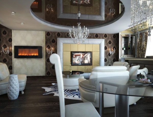 Дизайнерское оформление комнаты для гостей