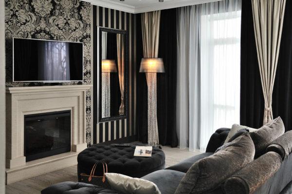 Интерьер гостиной в стиле арт деко