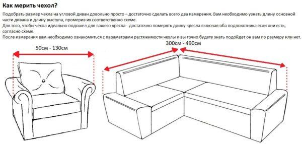 Как измерить диван
