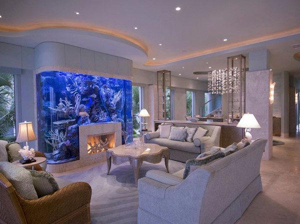 Камин-аквариум