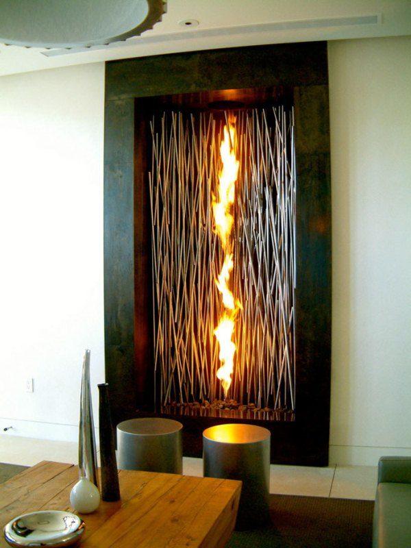 Камин, создающий огромное пламя