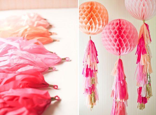 Кисточками можно украсить бумажные или воздушные шары