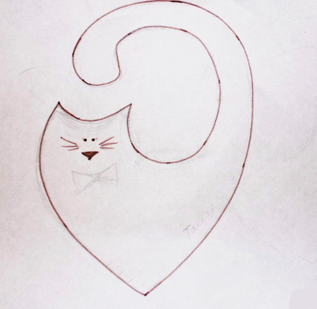 Котик из ткани, выкройка