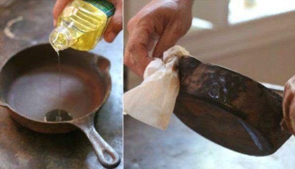 Обработка поверхности маслом