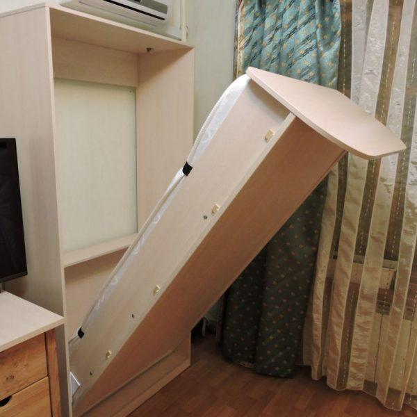 Односпальная вертикальная кровать-шкаф