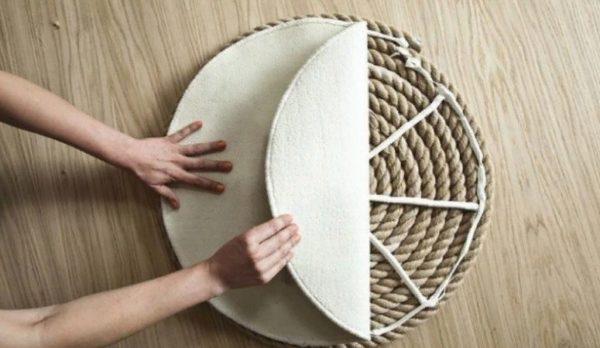 Основа веревочного коврика