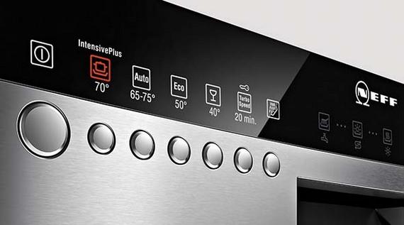 Панель управления в посудомойке
