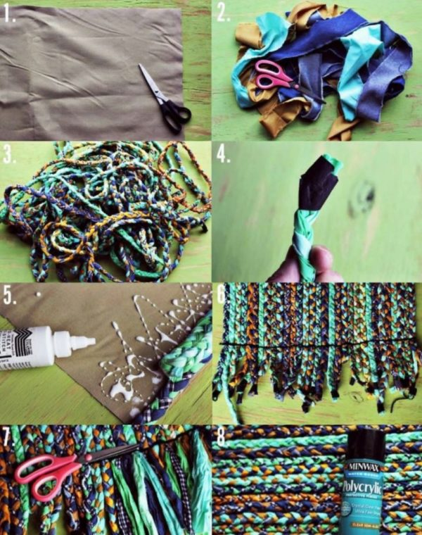 Процесс изготовления коврика