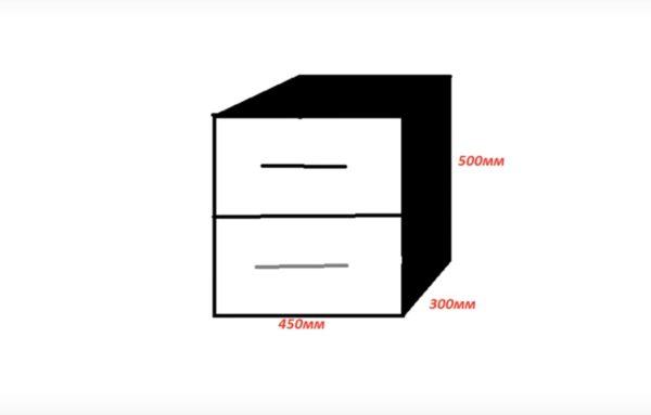 Простой чертеж конструкции
