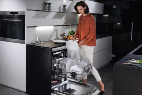 Разгрузка посудомойки