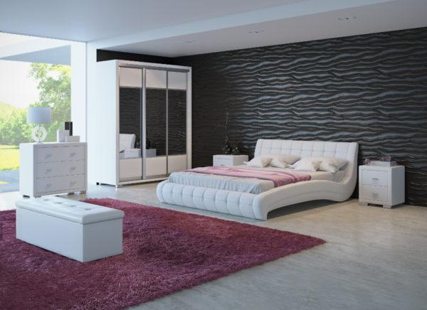 Роскошная кровать с обивкой из натуральной кожи, ориентировочная стоимость 88 900 рублей