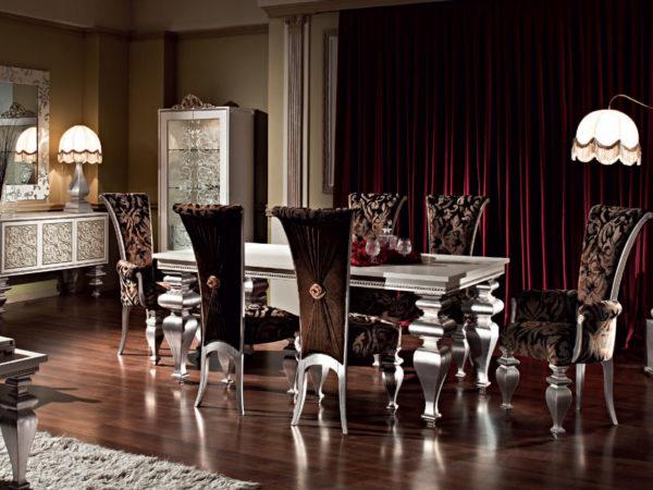 Роскошное оформление столовой в стиле арт деко