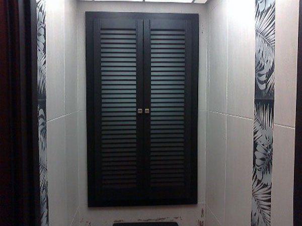 Шкаф в туалете может стать стилистическим акцентом