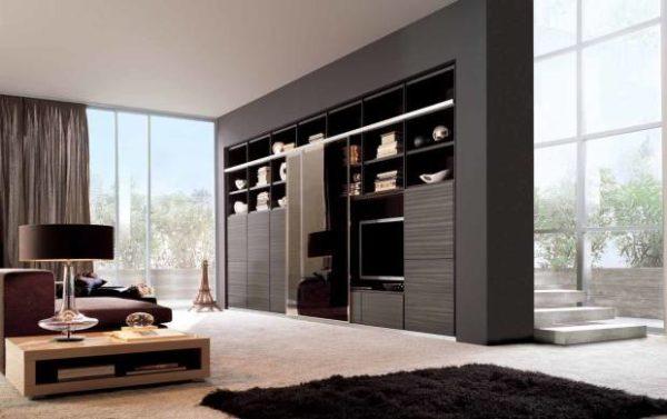 Современная встроенная мебель для маленьких квартир