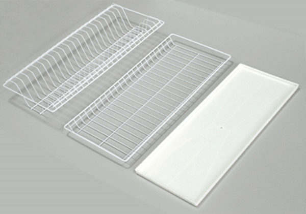 Сушилка белая для посуды в шкаф 80 см