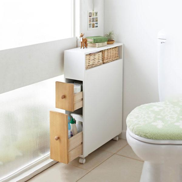 В нестандартных ванных комнатах шкафы на заказ являются наилучшим решением