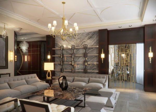 Важно не переусердствовать с количеством декоративных мотивов на стенах и мебели