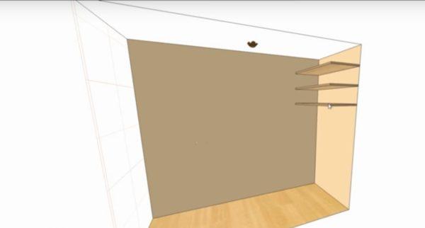 Вначале составляется проект шкафа