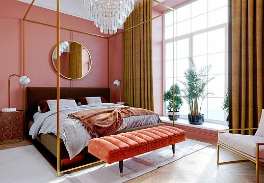 Зеркала в спальне добавляют пространства и света
