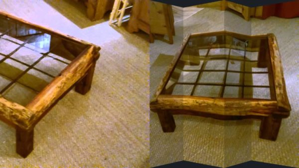 Журнальный столик из дерева и стекла, сделанный своими руками