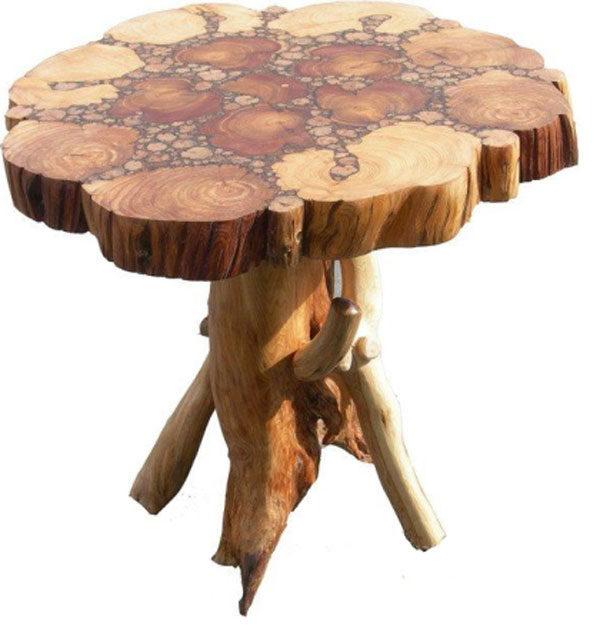 Стол из спилов дерева своими руками