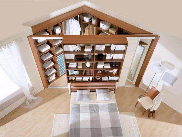 Угловой шкаф – решение для небольших спален
