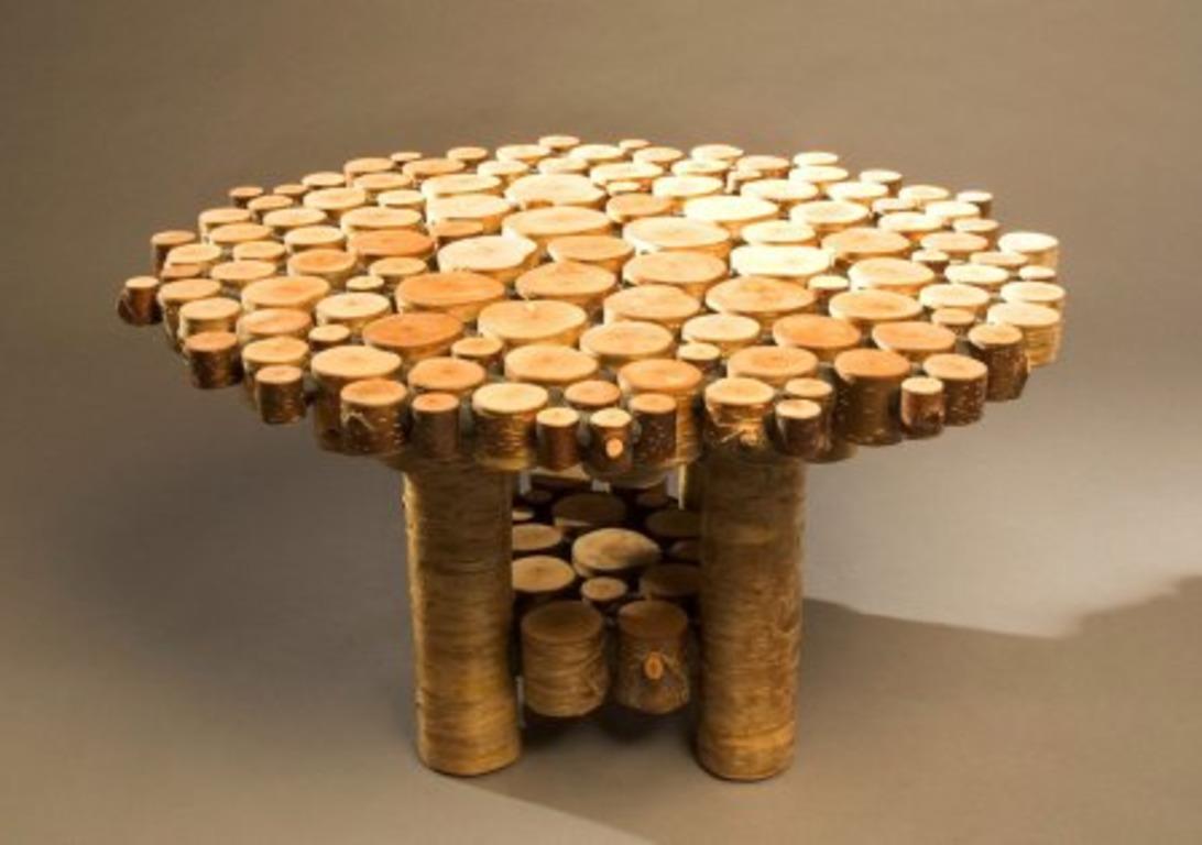 Стол из спилов дерева своими руками: инструкция по сборке || Стол из торцов дерева