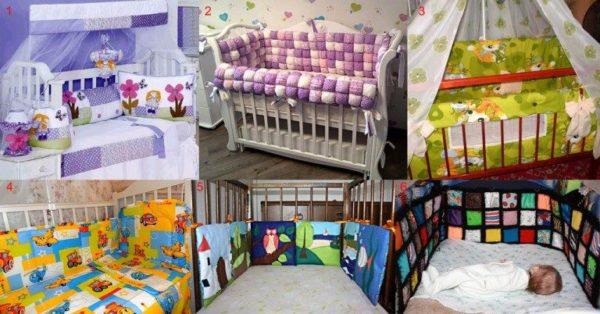 Недопустимые цветовые сочетания для бампера детской кровати
