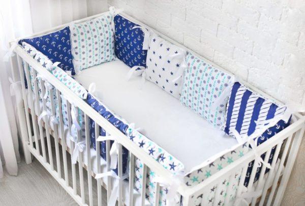 3-4-600x406 Как сшить бортики в кроватку для новорожденных своими руками