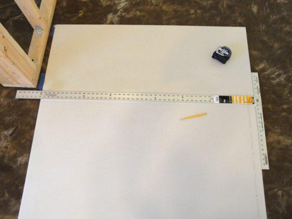 Разметка границ на листах